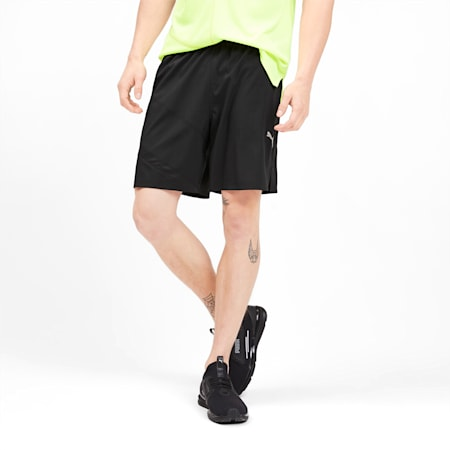 "Ignite Blocked Men's 7"" Shorts, Puma Black-Puma Black, small"