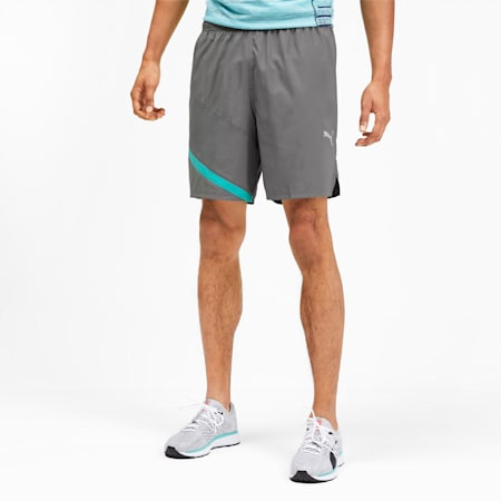IGNITE Woven Men's Training Shorts, CASTLEROCK-Blue Turquoise, small-SEA