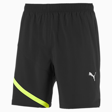 IGNITE Woven dryCELL Men's Training Shorts, Puma Black-Yellow Alert, small-IND