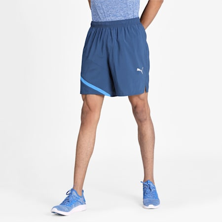 IGNITE Woven dryCELL Men's Training Shorts, Dark Denim-Palace Blue, small-IND