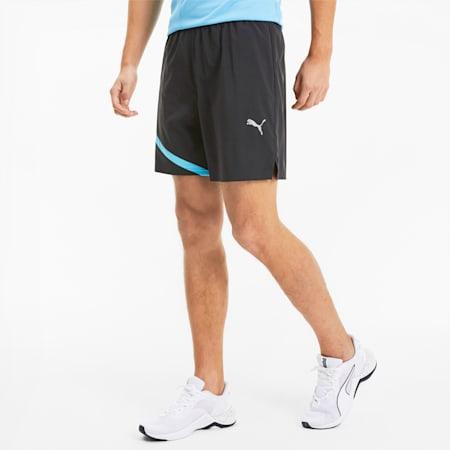 "Ignite Blocked Men's 7"" Shorts, Puma Black-Ethereal Blue, small"