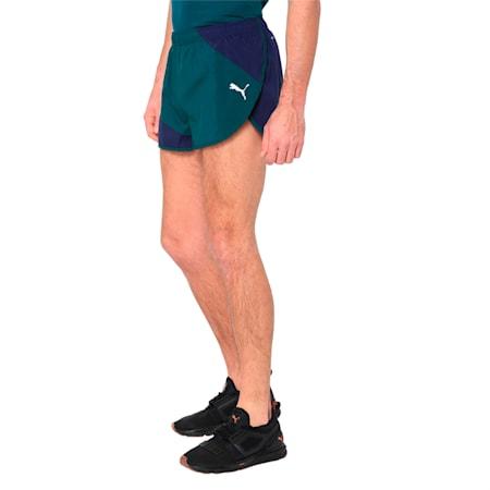 IGNITE Men's Running Split Shorts, Peacoat-Ponderosa Pine, small-IND