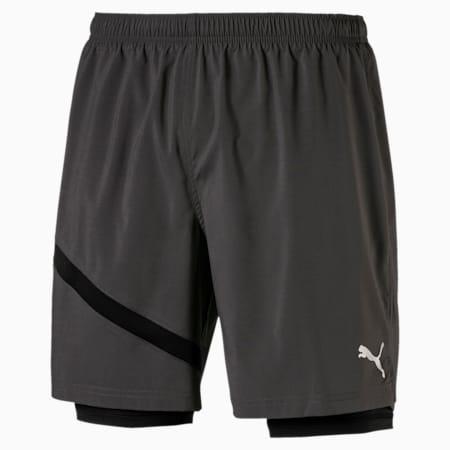 Ignite Woven 2 in 1 Men's Running Shorts, Asphalt-Puma Black, small-SEA