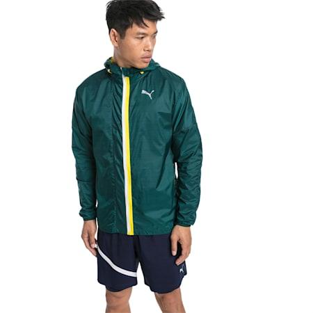 LastLap Men's Training Jacket, PonderosaPineHeather-Blazing, small-SEA