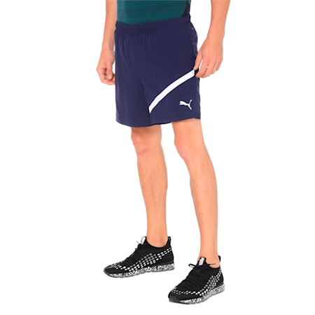 "Pace 5"" Men's dryCELL Reflective Tec Running Shorts, Peacoat, small-IND"
