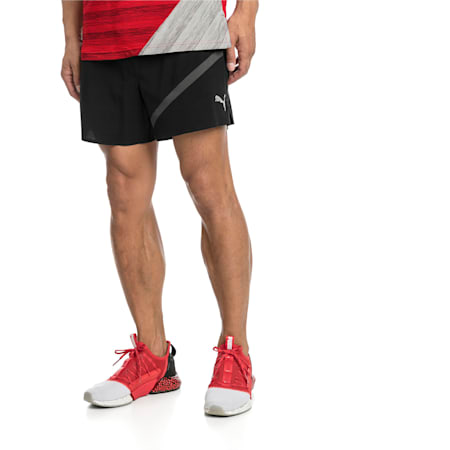 "Pace 5"" Men's dryCELL Reflective Tec Running Shorts, Puma Black-Asphalt, small-IND"