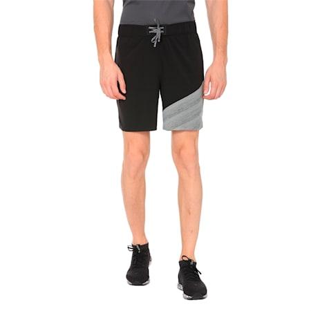 "Pace 7"" 2 in 1 Men's Running Shorts, Puma Black-Medium Gry Hthr, small-IND"