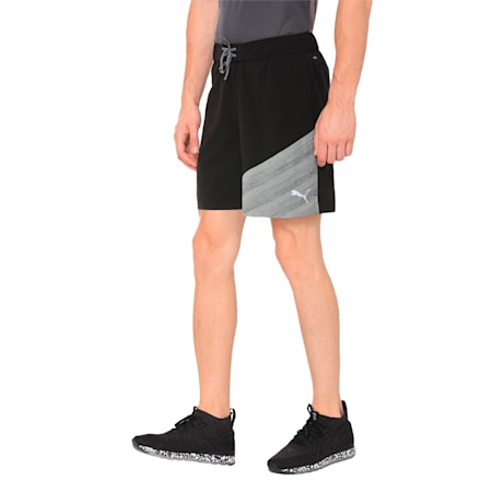 "Pace 7"" 2 in 1 Men's Running Shorts, Puma Black-Medium Gry Hthr, small-IND"