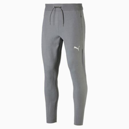 Pantaloni Training Energy evoKNIT Trackster uomo, Medium Gray Heather, small
