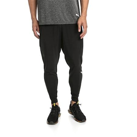 NeverRunBack Tapered Men's Training Pants, Puma Black, small-SEA