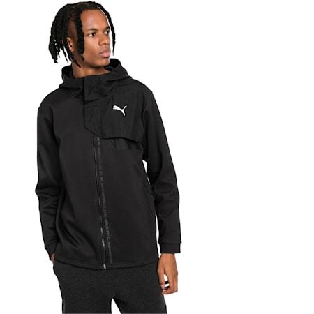Energy Full Zip Hooded Men's Jacket, Puma Black, small-IND