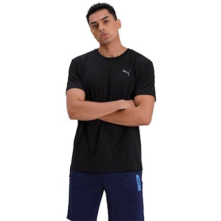 Energy Short Sleeve Men's Training Tee, Puma Black Heather, small-IND