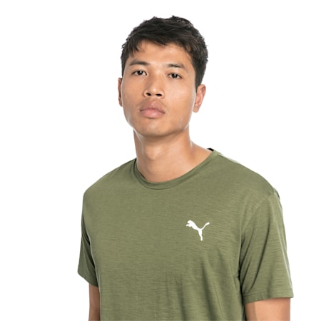 Energy Short Sleeve Men's Training Tee, Olivine Heather, small-SEA