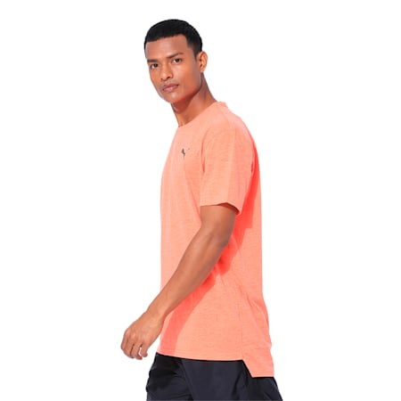 Energy Short Sleeve Men's Training Tee, Nrgy Red Heather, small-IND