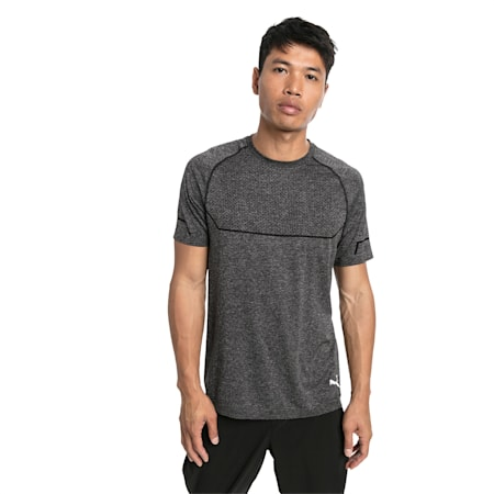 T-Shirt Energy Seamless Training pour homme, Puma Black Heather, small