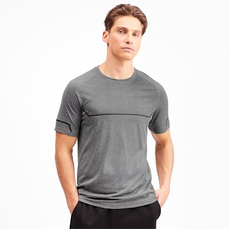 Energy Seamless Tee, Medium Gray Heather, small