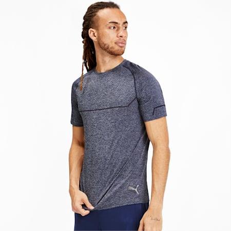 Energy evoKNIT Men's Training T-Shirt, Peacoat Heather, small-IND