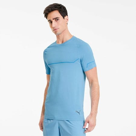 Energy Seamless Tee, Ethereal Blue Heather, small