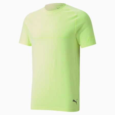 Energy evoKNIT Men's Training T-Shirt, Fizzy Yellow Heather, small-IND