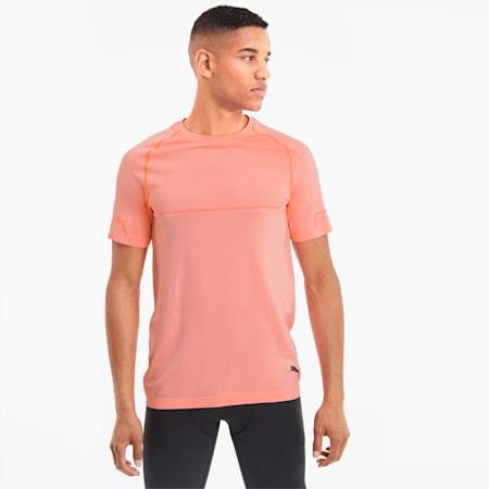 Energy evoKNIT Men's Training T-Shirt, Nrgy Peach Heather, small-IND