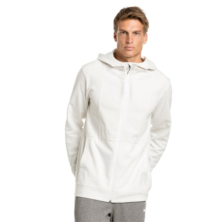 Energy Men's Jacket, Puma White-Heather, small-SEA