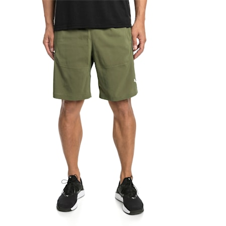 "Energy Woven 9"" Men's Running Shorts, Olivine, small-IND"
