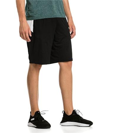 Energy Knitted Men's Training Shorts, Puma Black-Puma White, small-IND