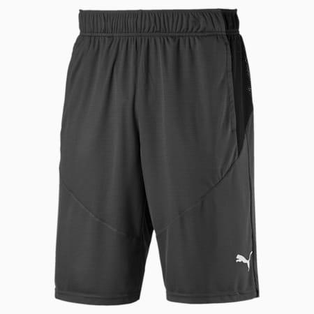 Shorts da allenamento lavorati a maglia da uomo, Asphalt-Puma Black, small