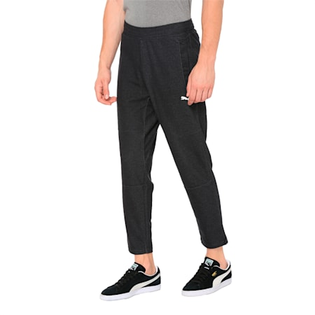 Knitted Men's Training Pants, Puma Black Heather, small-IND