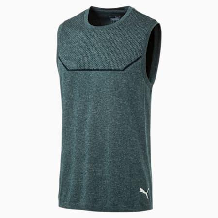 Męska koszulka treningowa bez rękawów Energy Seamless evoKNIT, Ponderosa Pine Heather, small
