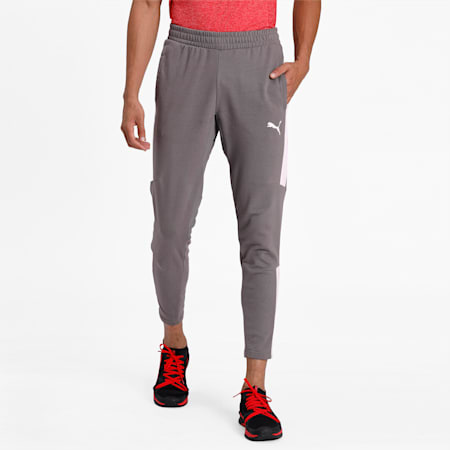 Energy Sweat Blaster dryCELL Men's Pants, Charcoal Gray-Puma White, small-IND