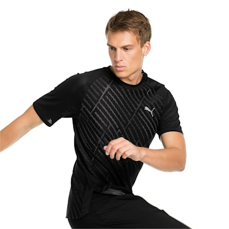 VENT Graphic Men's Training Tee, puma black-charcoal gray, small-IND