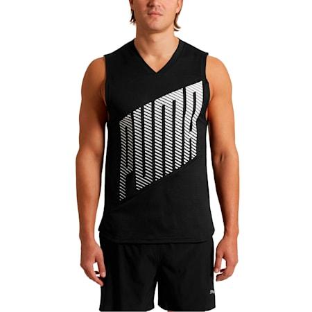 Camiseta sin mangas A.C.E. para hombre, Puma Black, pequeño