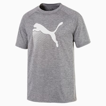 The CAT Heather Men's Training Tee, Charcoal Gray Heather, small-SEA