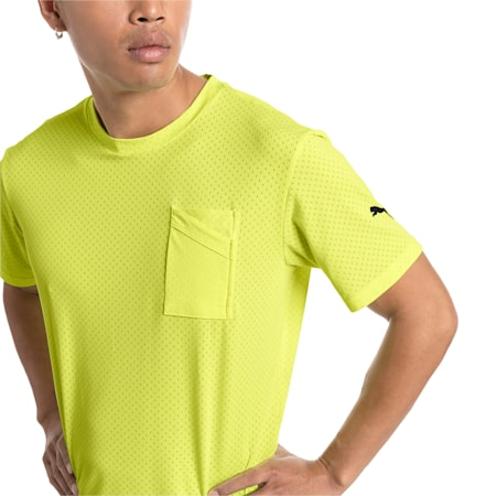 A.C.E. Men's Training Tee, Fizzy Yellow, small-IND