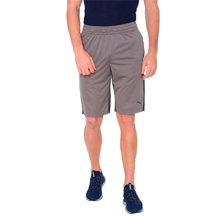 A.C.E Knit Men's Active shorts, Charcoal Gray-Asphalt, small-IND