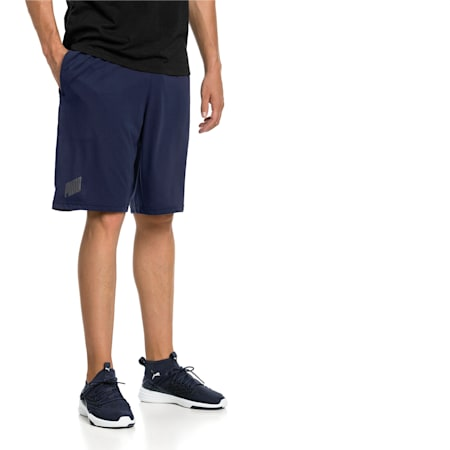 A.C.E. Knitted Men's Shorts, Peacoat-Puma Black, small-IND