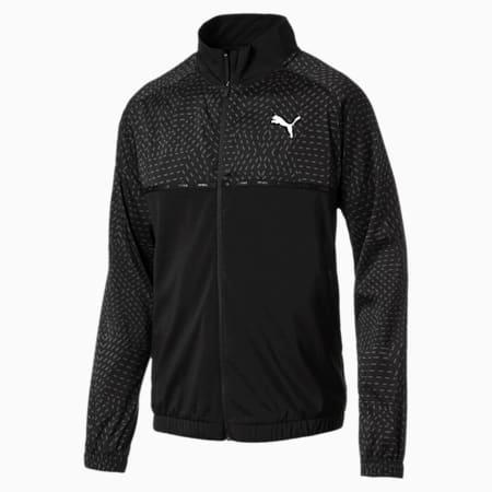 Energy Woven Men's Sweat Jacket, Puma Black, small-SEA