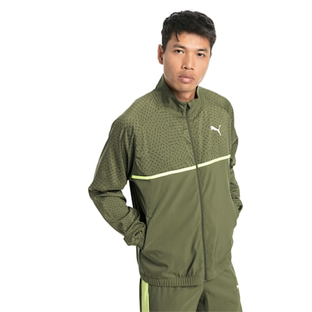 Energy Woven Men's Sweat Jacket, Olivine, small-SEA