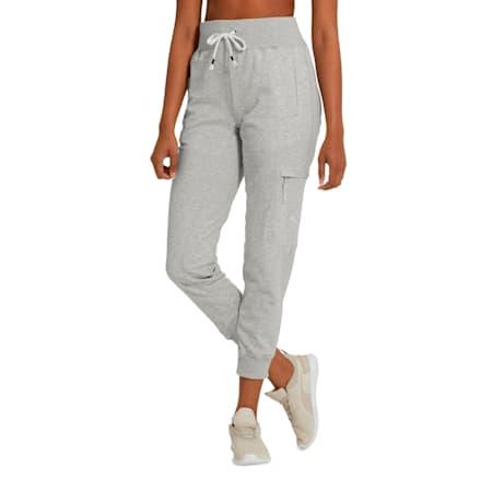 Feel It Women's Sweatpants, Light Gray Heather, small