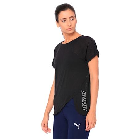 SpotLite Women's Training Tee, Puma Black, small-IND
