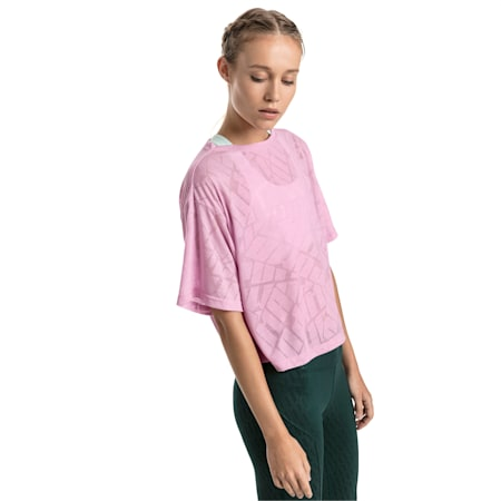 Show Off Cropped Women's Tee, pale pink Heather, small-IND
