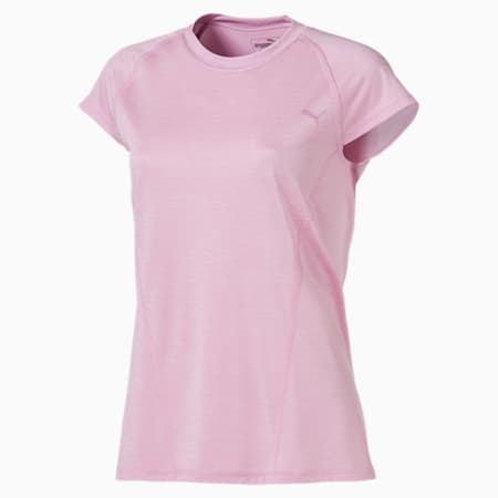 DeLite Short Sleeve Women's Training Tee, Pale Pink Heather, small