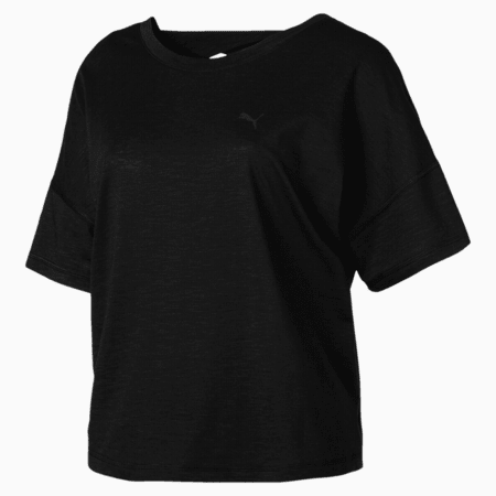 PUMA Twist it Tee, Puma Black Heather, small-SEA