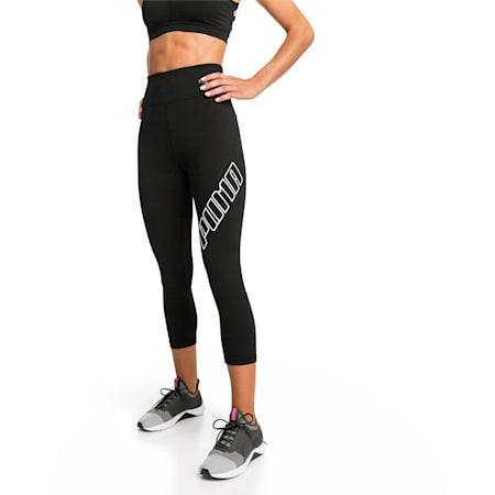 Yogini Logo 3/4 Women's Tights, Puma Black, small-SEA