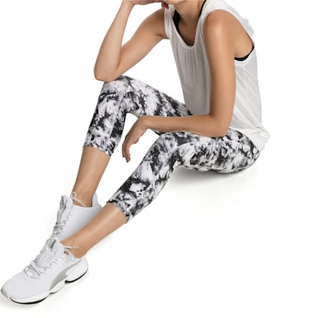 Stand Out Women's Training Leggings, puma white-puma black, small-IND