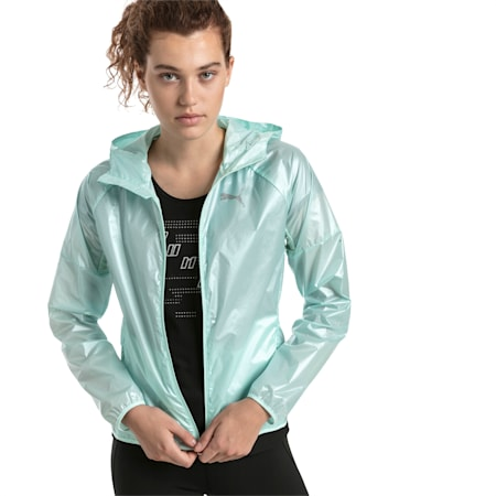 Last Lap Women's Metallic Jacket, Fair Aqua-metallic, small