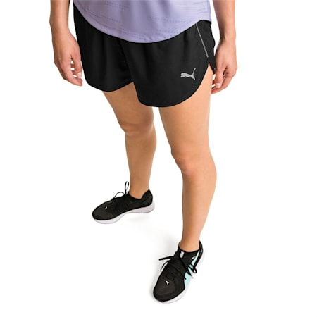 "Keep Up Graphic 3"" Women's Running Shorts, puma black-Q1 Print, small-IND"