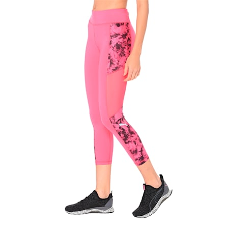 Ignite 3/4 Graphic Women's Tights, fuchsia purple-puma black-Q2, small-IND