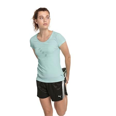Ignite Short Sleeve Women's Running Tee, Fair Aqua, small-SEA